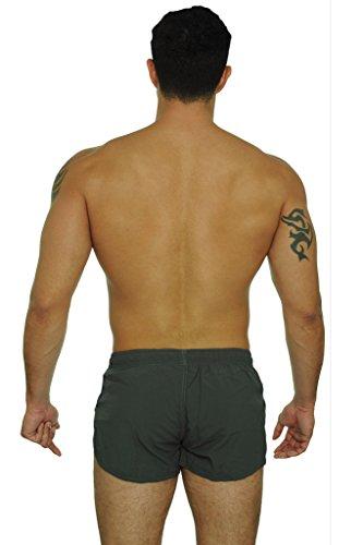 4cbf18a21e Men's Basic Running Shorts Swimwear Trunks By UZZI: NEON FUCHSIA ...