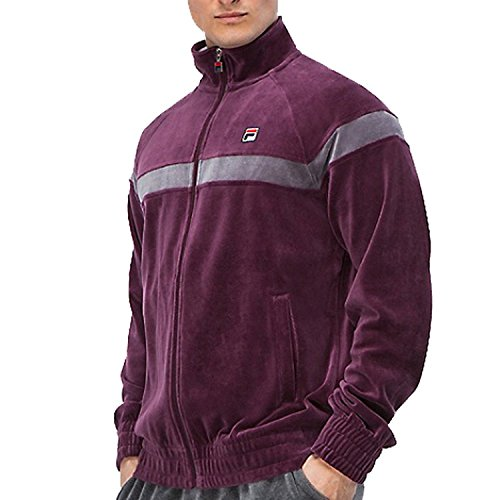 Men s Fila Velour Old School Classic Striped Tracksuit Jacket with Solid  Pants 867fe3dff