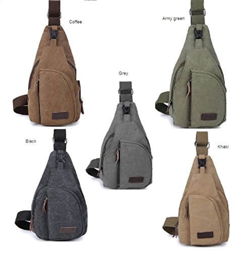 New Fashion Design Portable Mens Casual Canvas Chest Bag Travel Hiking Crossbody