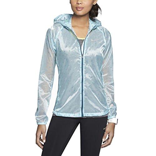 ca18139440e4 Nike Women s Vapor Cyclone Packable Ultralight Running Jacket Green Small