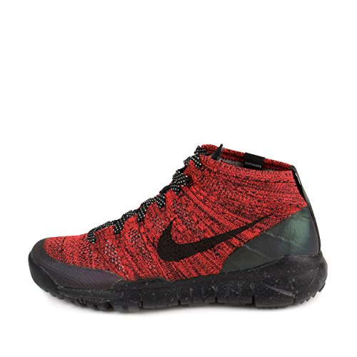 a08a91fe251cb Nike Womens W Flyknit Trainer Chukka FSB Bright Crimson Black-Sequoia Fabric