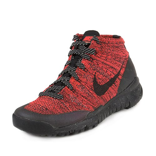 fa930a5c4c98 Nike Womens W Flyknit Trainer Chukka FSB Bright Crimson Black-Sequoia Fabric