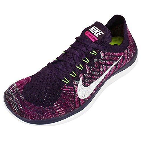 sports shoes 06799 a5113 Nike Women s Wmns Free 4.0 Flyknit, GRAND PURPLE WHITE-PINK FOIL