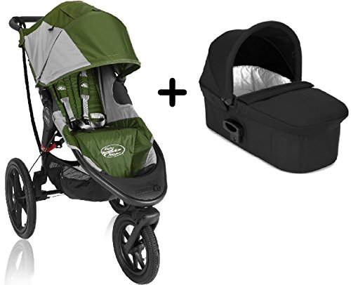 Baby Jogger Summit X3 Single Stroller Green Gray Baby Jogger Deluxe Pram Complete Package