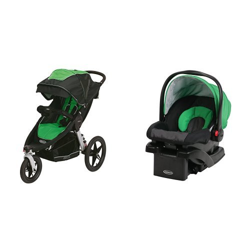 Graco Relay Click Connect Jogging Stroller And SnugRide 30 Infant Car Seat
