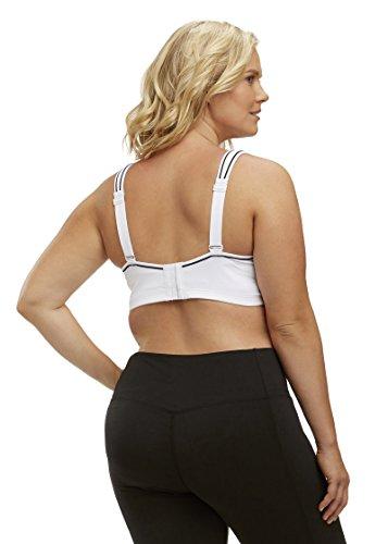 c810c20d114f0 Marika Curves Women s Gabriella Sports Bra (Plus Size) 40C White ...