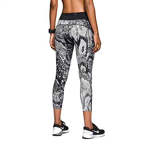 low priced ddb1d b299e Nike Womens Dri Fit Epic Lux Snake Printed Running Tights Black White XL