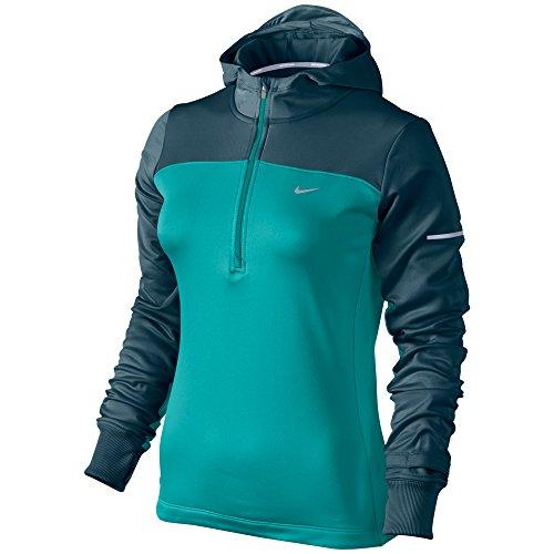 667be73da3d5 Nike Womens Dri Fit Thermal Running Half Zip Hoodie Medium Dusty Cactus Blue