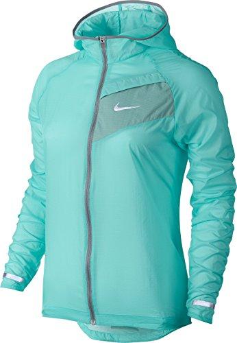 3d4a8f087510 Nike Women s Impossibly Light Hooded Running Jacket Light Aqua XL ...