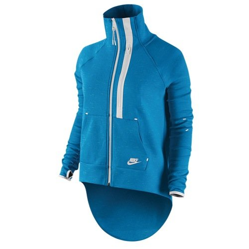 Women s Nike Tech Fleece Jacket Large Blue white – Hero Runner c7d9d1a12e