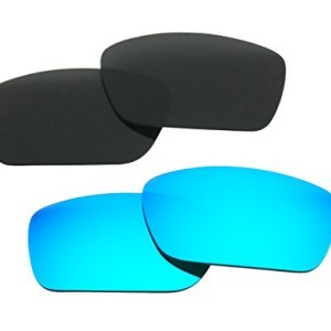 51e46584a8 2 Pairs Polarized Replacement Sunglasses Lenses for Oakley Fuel Cell with  UV Protection(Black and Ice Blue Mirror) Model  – Hero Runner