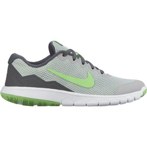 Boys  Nike Flex Experience 4 (GS) Running Shoe WOLF GREY VLTG GRN-LCD  GRN-WHT ae2657d185b2