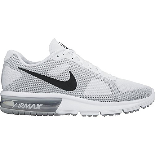 mens nike air max sequent running shoes white