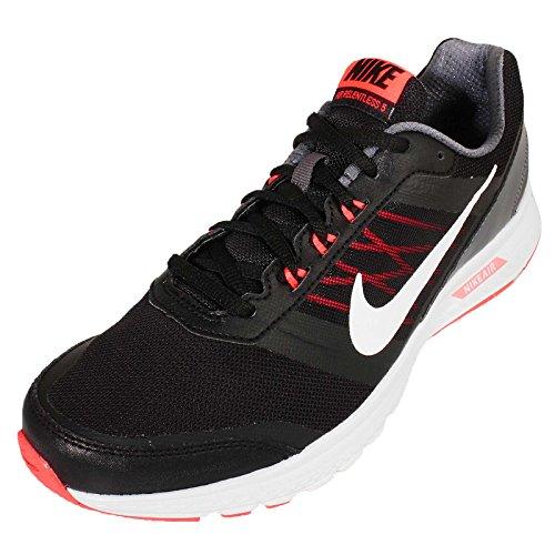 Nike Mens Air Relentless 5 MSL BLACKWHITEHYPER ORANGEDARK GREY
