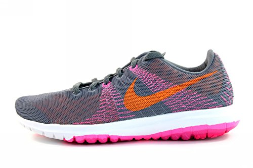 buy popular fda21 f52f5 Nike Womens Flex Fury - Grey, Bright Citrus, Pink Pow 705299-008 Running  Shoe