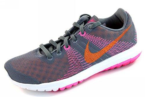 sports shoes 062cb 80d8e Nike Womens Flex Fury – Grey, Bright Citrus, Pink Pow 705299-008 Running  Shoe
