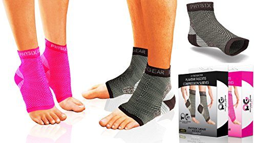 0caeb0ffb3 Plantar Fasciitis Compression Sleeve for Men & Women – Best Pain Relief  Therapy Sock – Foot Spurs Splint – Ankle Sleeves – Arch Support Heel Spur  ...