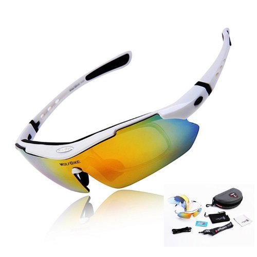 92269343a97 WOLFBIKE Polarized Cycling Sun Glasses Outdoor Sports Bicycle Glasses Bike  Sunglasses Running Driving Racing Ski Goggles Eyewear Cool with  Exchangeable 5 ...