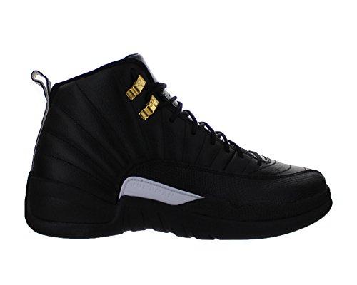 Nike Mens Air Jordan 12 Retro Black White-Metallic Gold Leather ... 4d899f85d