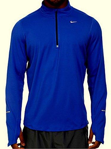 a75b1fd523867 Nike Men's Element 1/2 Half Zip Running Shirt Blue 717404-439 Dri Fit