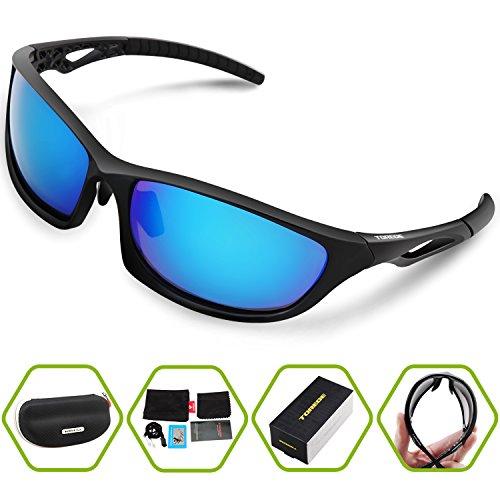 aca3ef1a91 Torege Polarized Sports Sunglasses For Men Women Cycling Running ...
