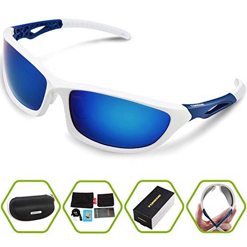 4e1a822c70 Torege Polarized Sports Sunglasses For Men Women Cycling Running Fishing  Driving Baseball Golf TR90 Unbreakable Frame TR010