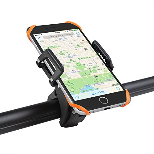 Bike Mount Bicycle Holder, Taotronics Universal Cradle Clamp for iOS  Android Smartphone GPS other Devices, with One-button Released, 360 Degrees