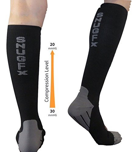 0ba59238506 SnugFx Compression Socks 20-30mmHg Graduated (1 Pair) – Best For Varicose  Veins