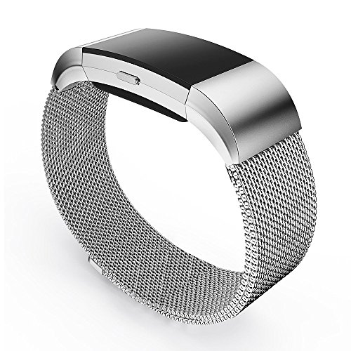 Stainless Steel Magnetic Milanese Loop Replacement Band for Fitbit Charge 2