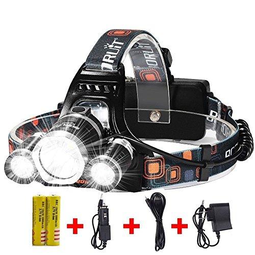 brightest and best led headlamp 10000 lumen flashlight improved led rechargeable 18650. Black Bedroom Furniture Sets. Home Design Ideas