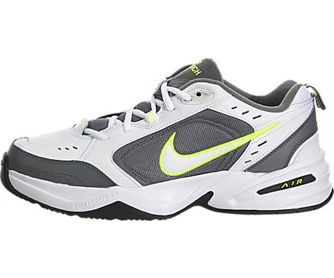 85aaf3744f3394 NIKE Men s Air Monarch IV White White Cool Grey Volt Training Shoe ...